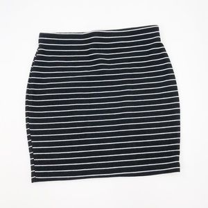 Zara Trafuluc Striped Ribbed Mini Skirt